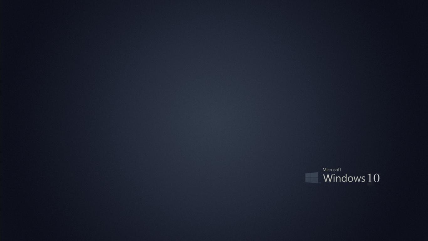 Microsoft Windows 10 Gray Background   1366x768   169897 1366x768