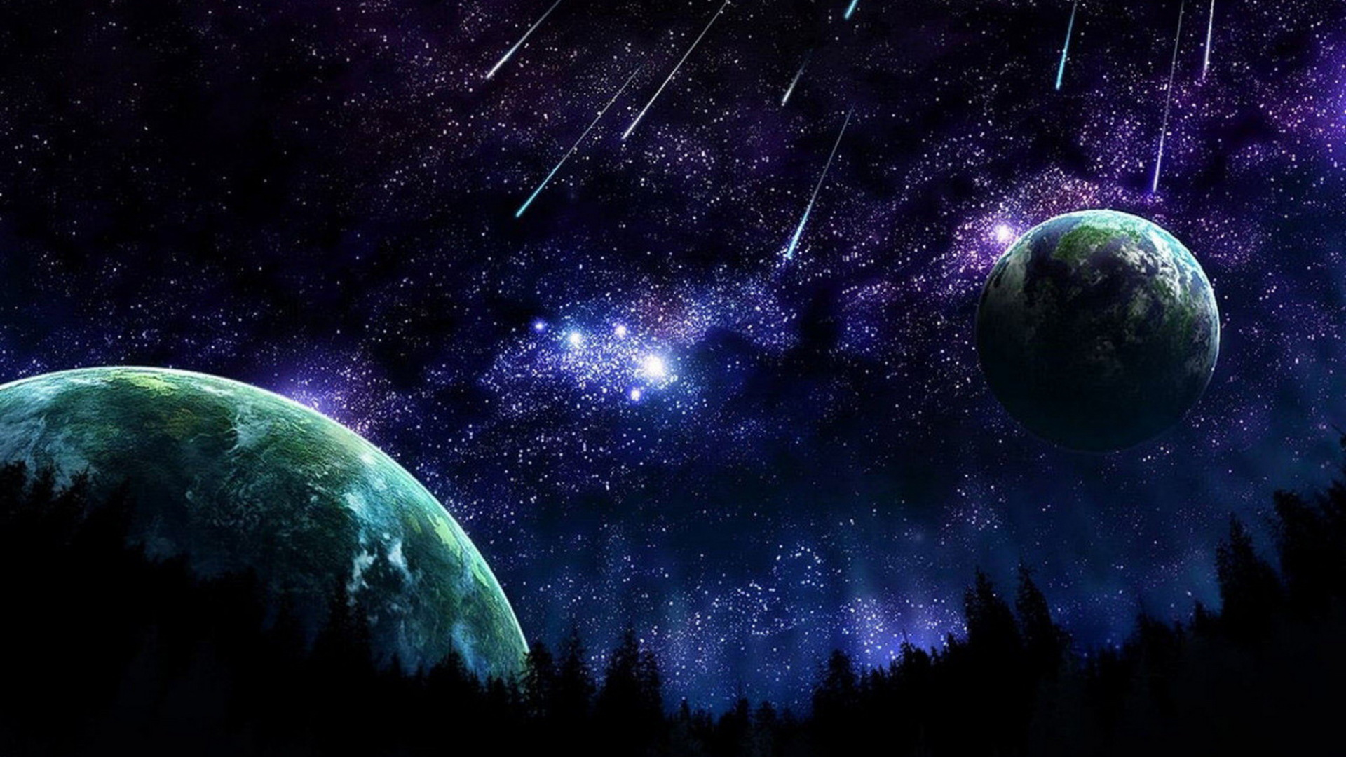 Outer Space Wallpaper 1920x1080 Outer, Space, Stars, Planets ...