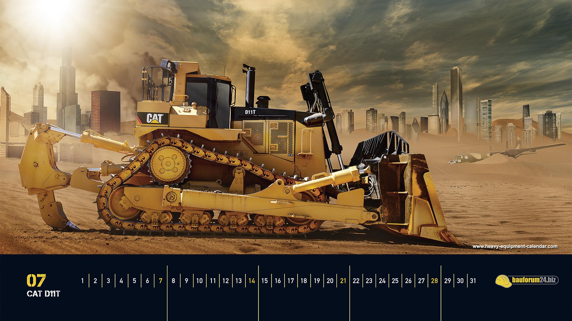 CAT D11T Heavy Equipment Calendar 1920x1080