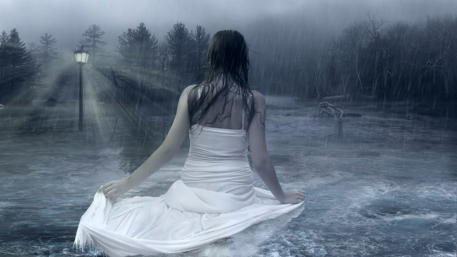 WALLPAPERS sad alone girls wallpapers sad alone girls in rain 1600x900