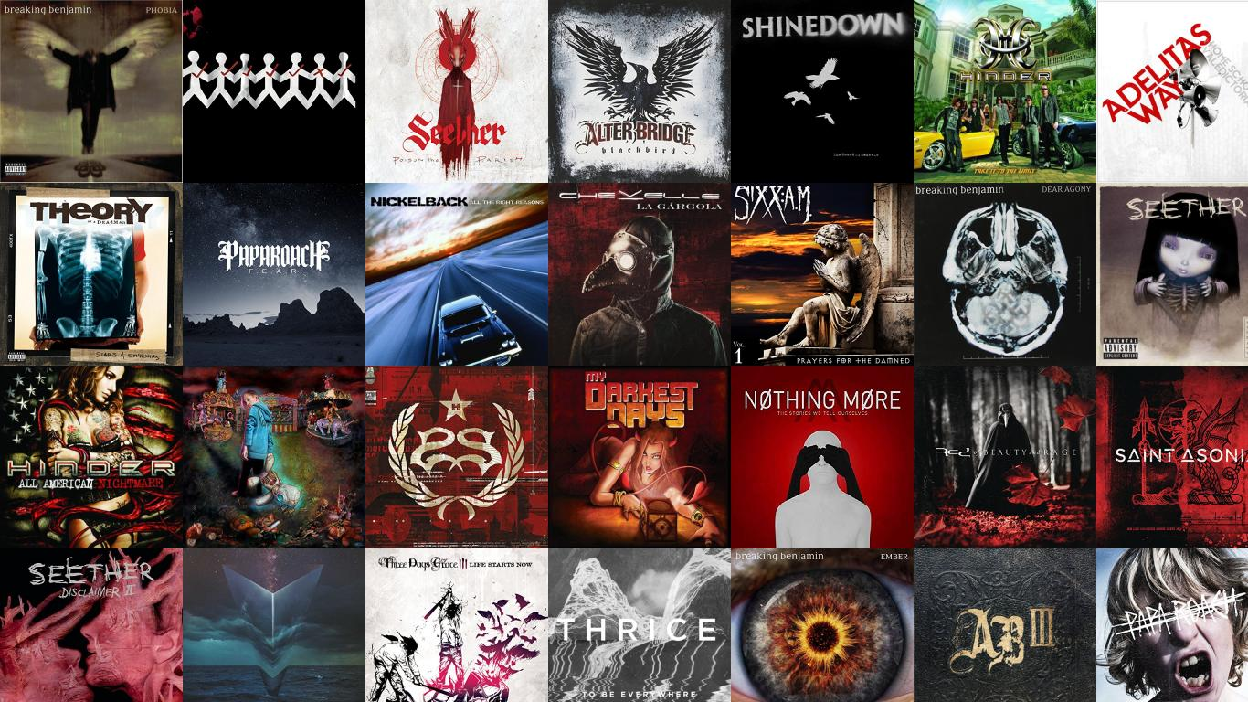 Breaking Benjamin Phobia Three Day Grace One X Seether Wallpaper 1366x768
