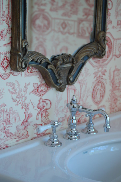 Wallpaper in the Bathroom   Traditional   Bathroom   new york   by 424x640