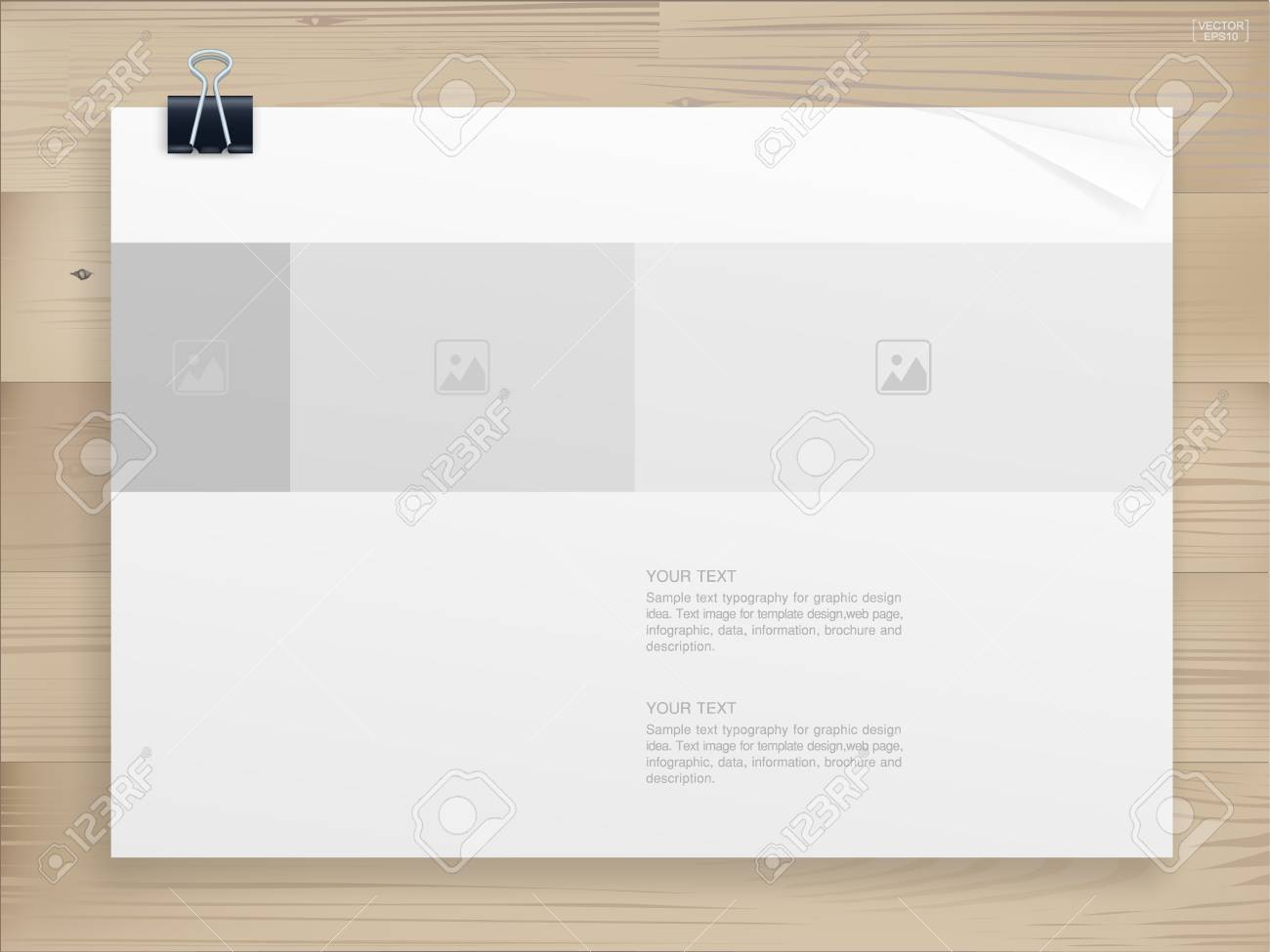 Book Binder With Empty Cover For Background On Wood Template 1300x975