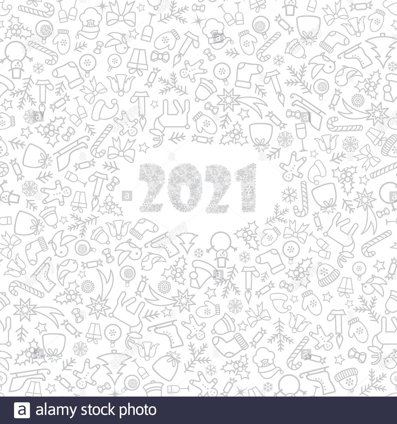 Christmas icon holiday background with numbers 2021 Happy New 1300x1390