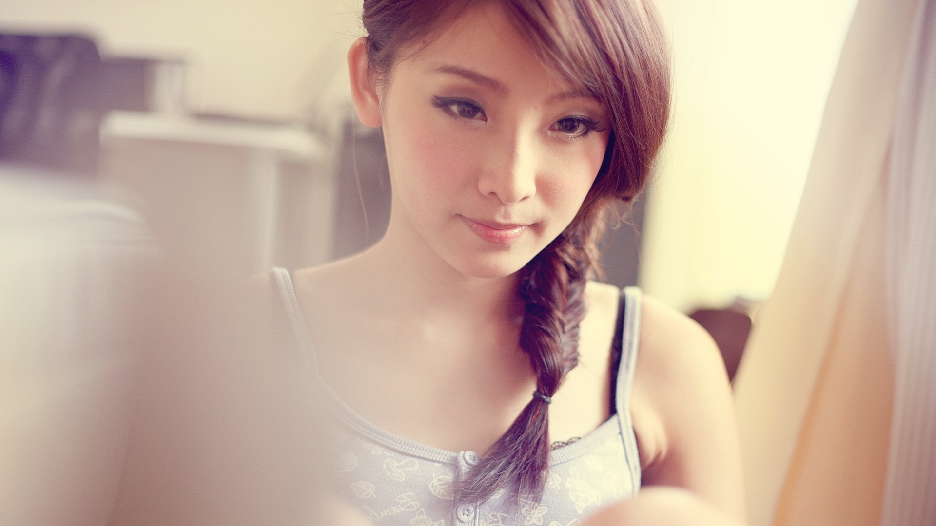 Asian cute girl model