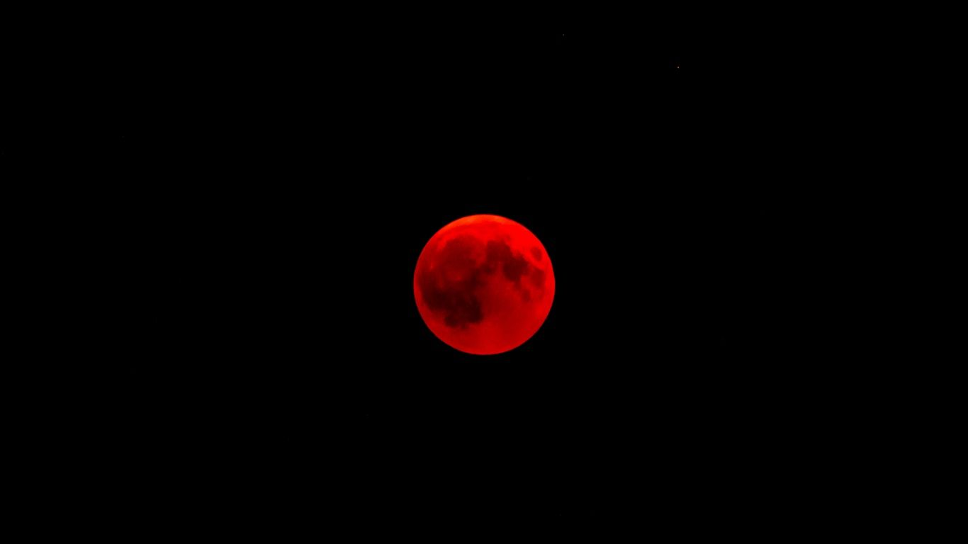 1366x768 Wallpaper moon full moon eclipse red moon in 2020 1366x768