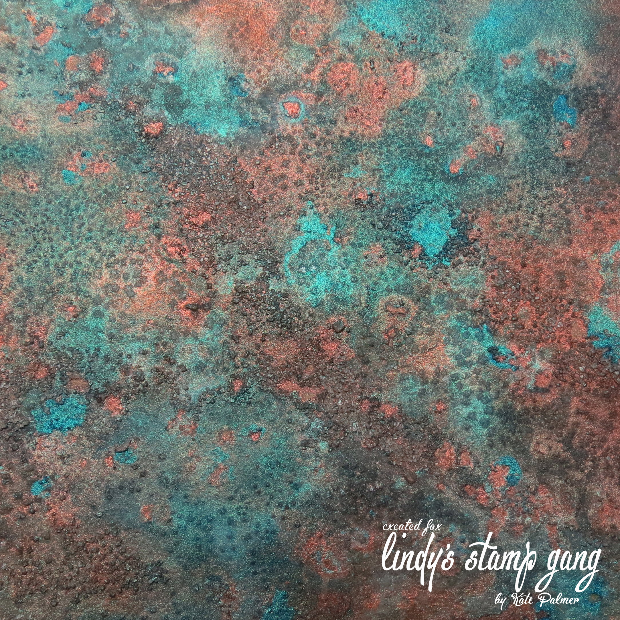 Faux Verdigris or Patina Background Lindys Stamp Gang 2166x2166