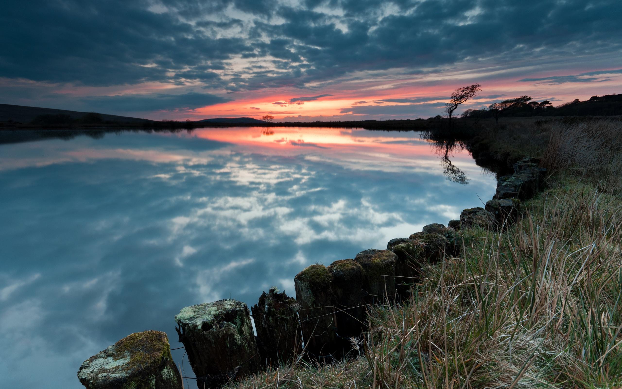 Evening Sunset Lake Wallpapers   2560x1600   1261618 2560x1600