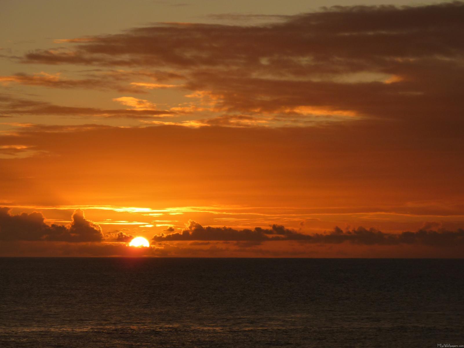 Caribbean Sunset Wallpaper Desktop - 117.0KB