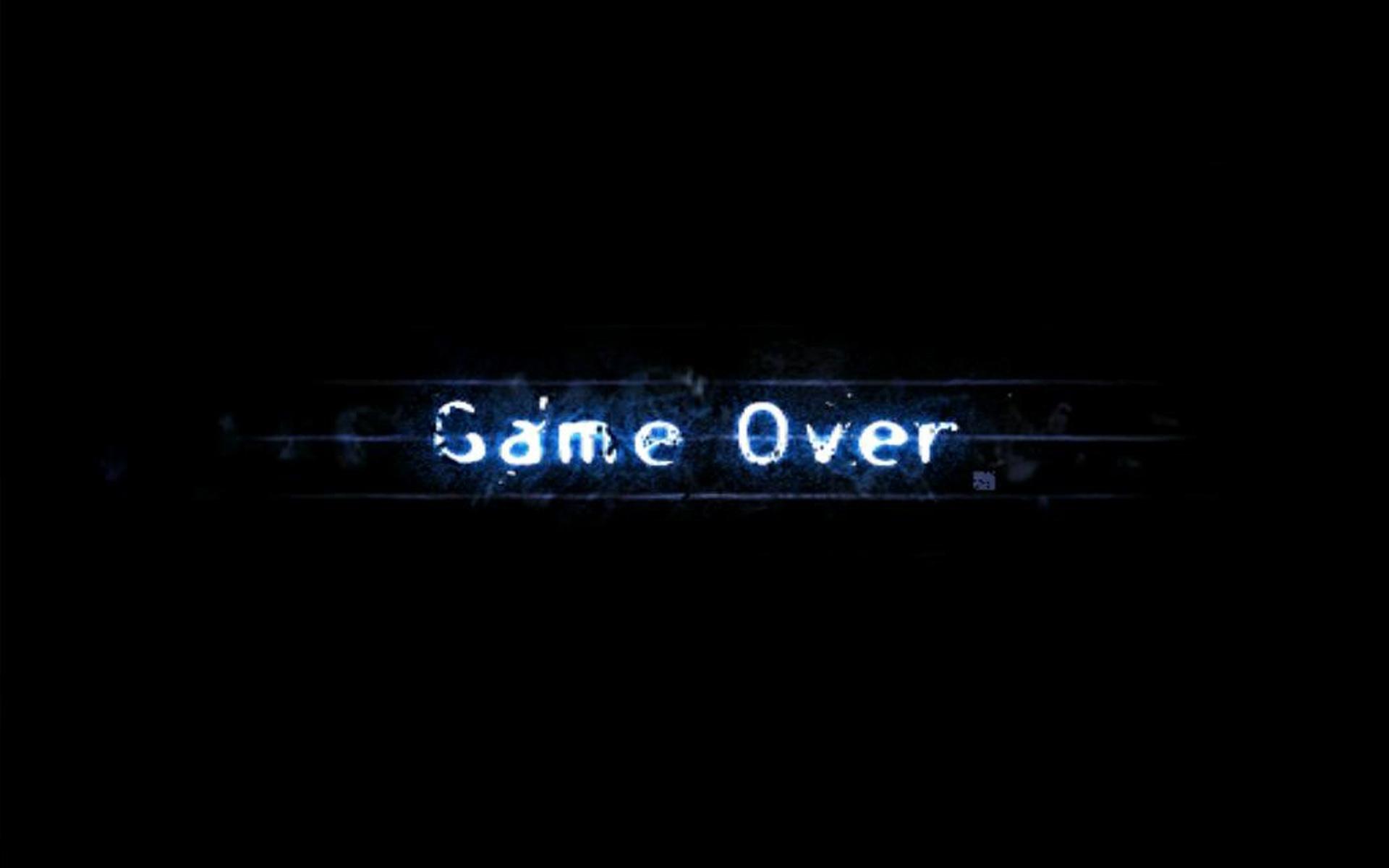 game over wallpaper wallpapersafari