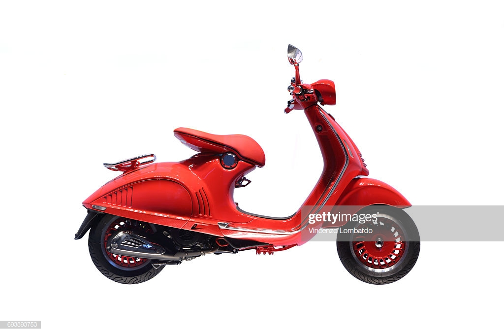 Italian Scooter On White Background Stock Photo   Getty Images 1024x680