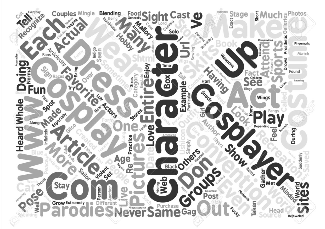 Have You Heard About Cosplay Text Background Word Cloud Concept 1300x916
