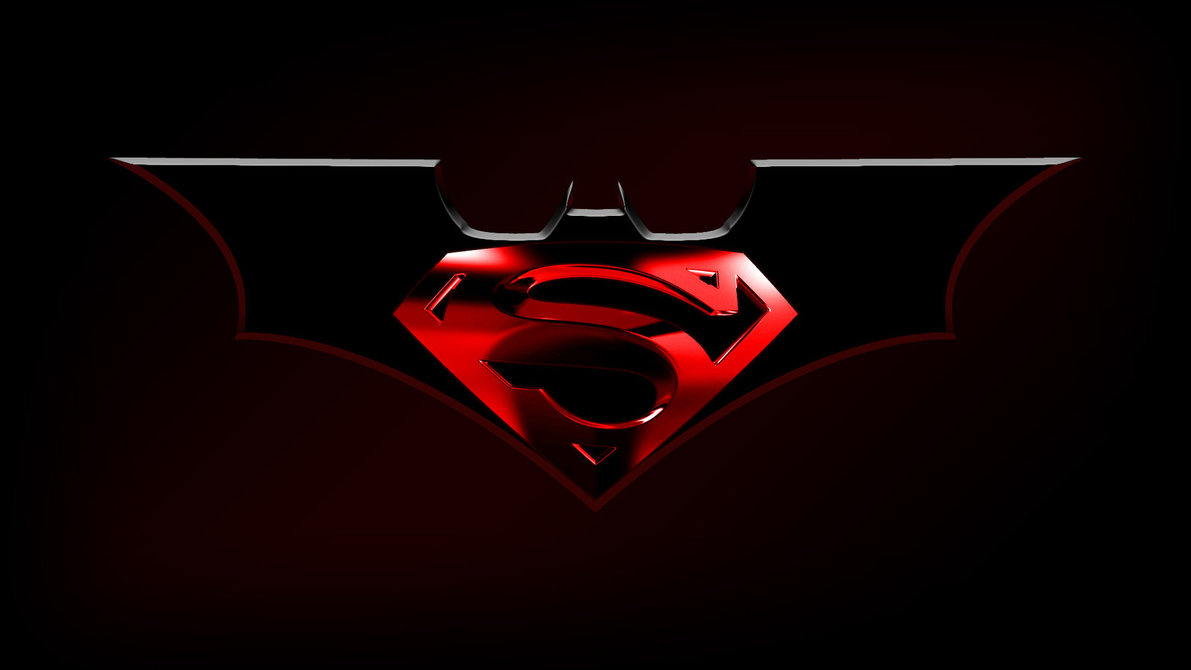 Pictures of batman and superman logo impremedia superman and batman logo wallpaper batman biocorpaavc Choice Image