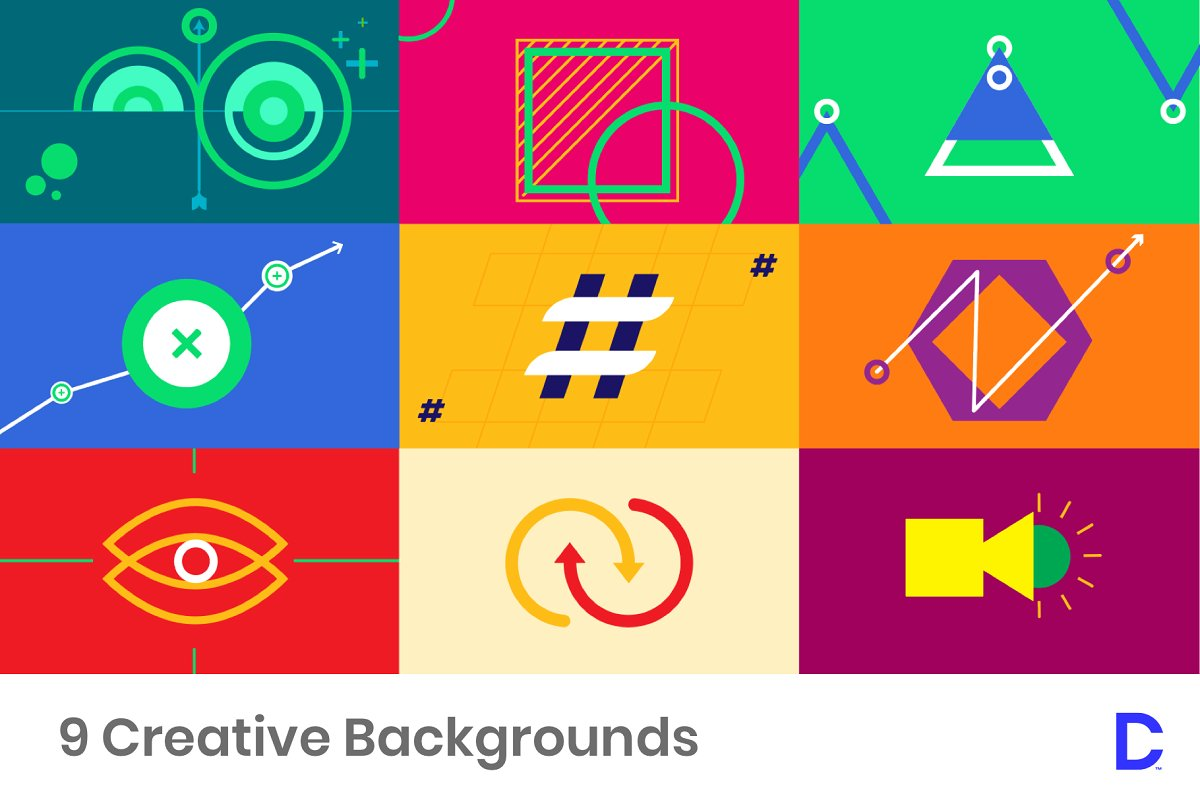 9 Colorful Infographic Backgrounds Custom Designed Illustrations 1200x800