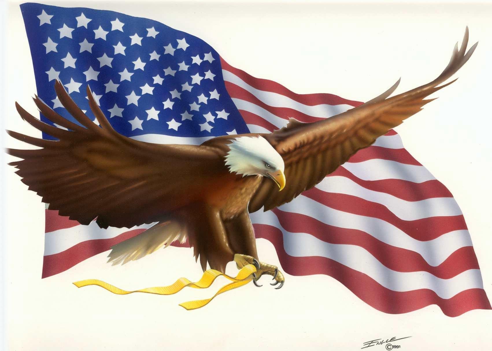 Eagle Flag Engle Bob Images at Clkercom   vector clip art 1702x1214