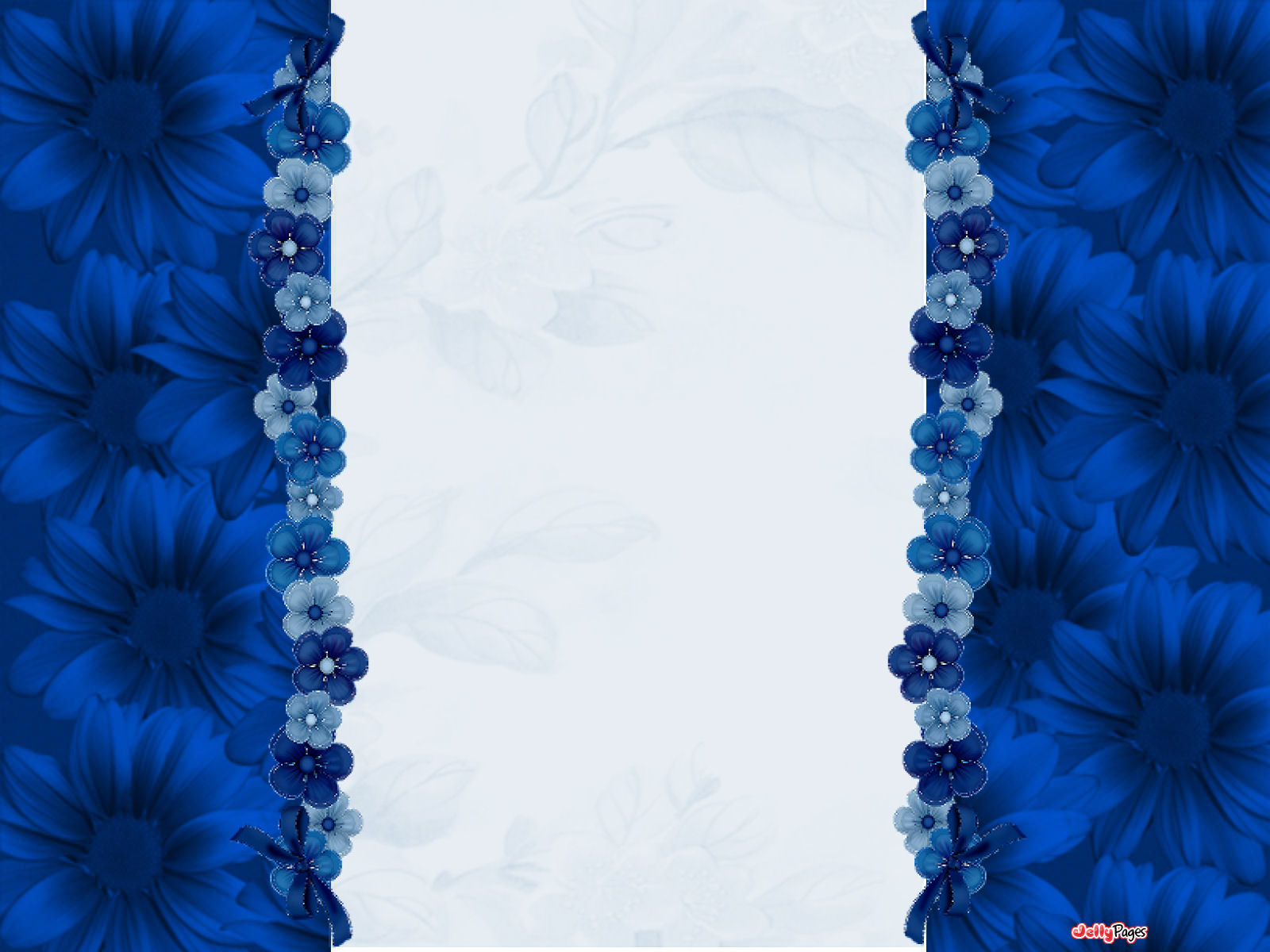Pretty Blue Flowers Blogger Layout Template Blog Background Jelly 1600x1200