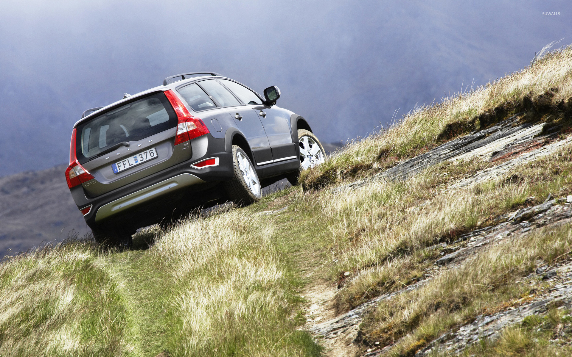 Volvo XC70 on a hill path wallpaper   Car wallpapers   50567 1920x1200