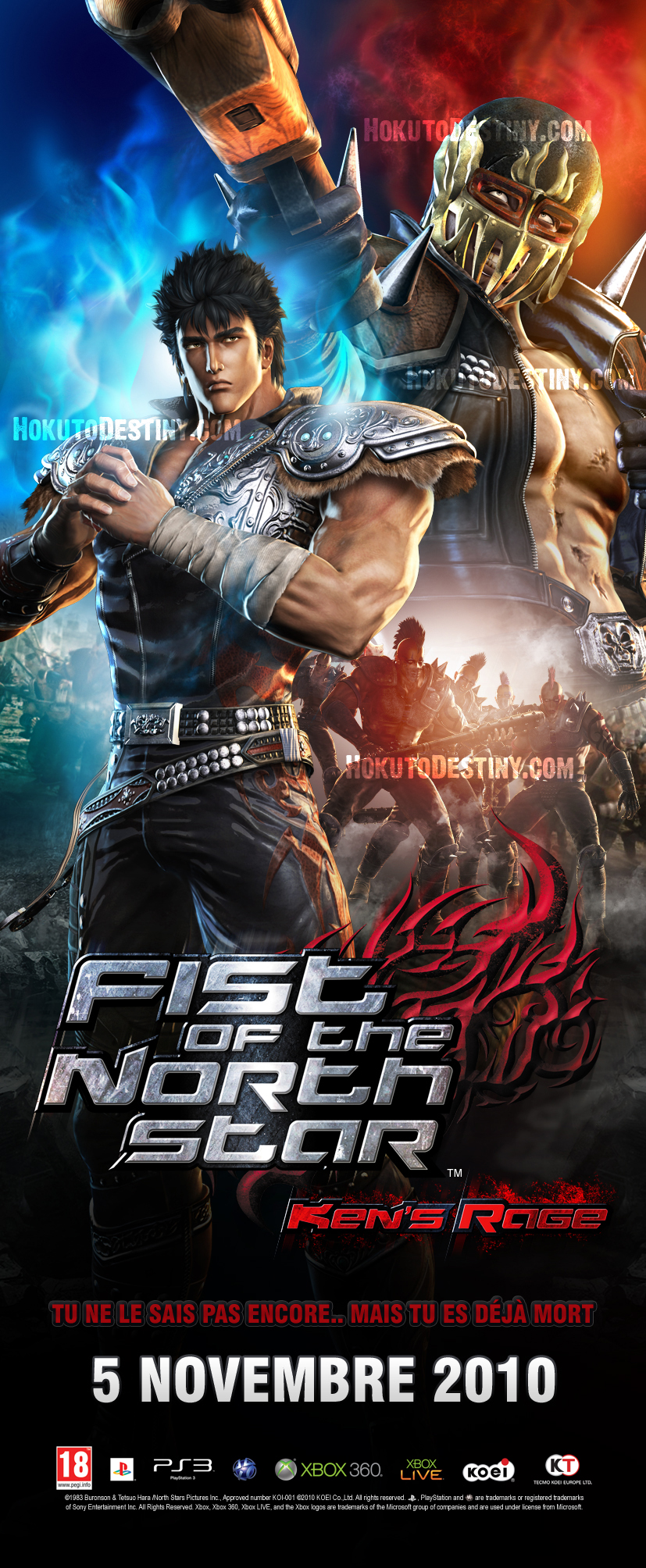 SHOCK Downloads Hokuto Musou   Fist of the North Star Kens Rage 827x2008