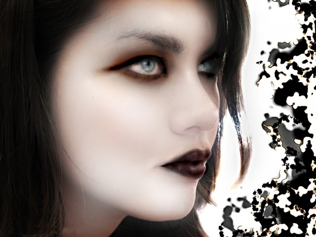 wallpaper woman goth woman Wallpaper 640x480