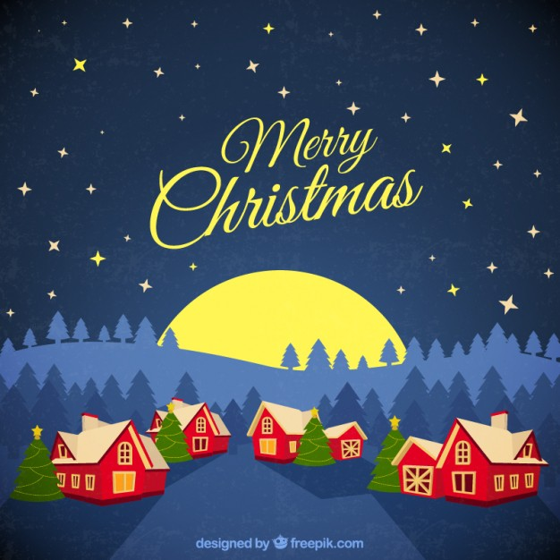 Christmas village background Vector Download 626x626