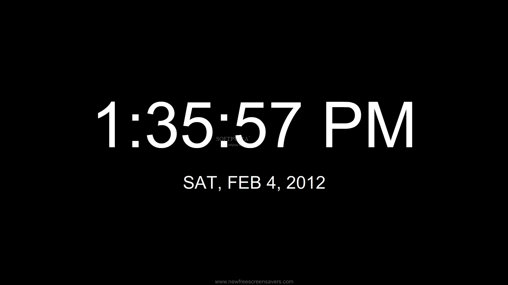 animated and useful screensaver that features a digital clock 12 hour 1920x1080
