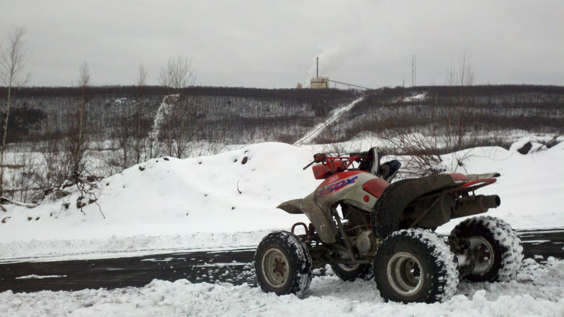 Landscapes snow honda quad bike four wheeler wallpaper 38932 1920x1080