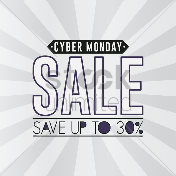 Cyber monday sale wallpaper Vector Clipart   1613177 StockUnlimited 600x600