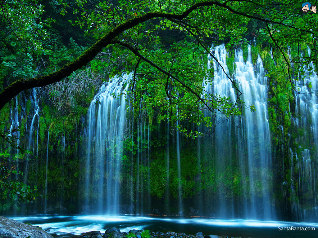 Gambar Animasi Air Terjun Wallpaper Indah Cantik DP Wallpaper 1024x768