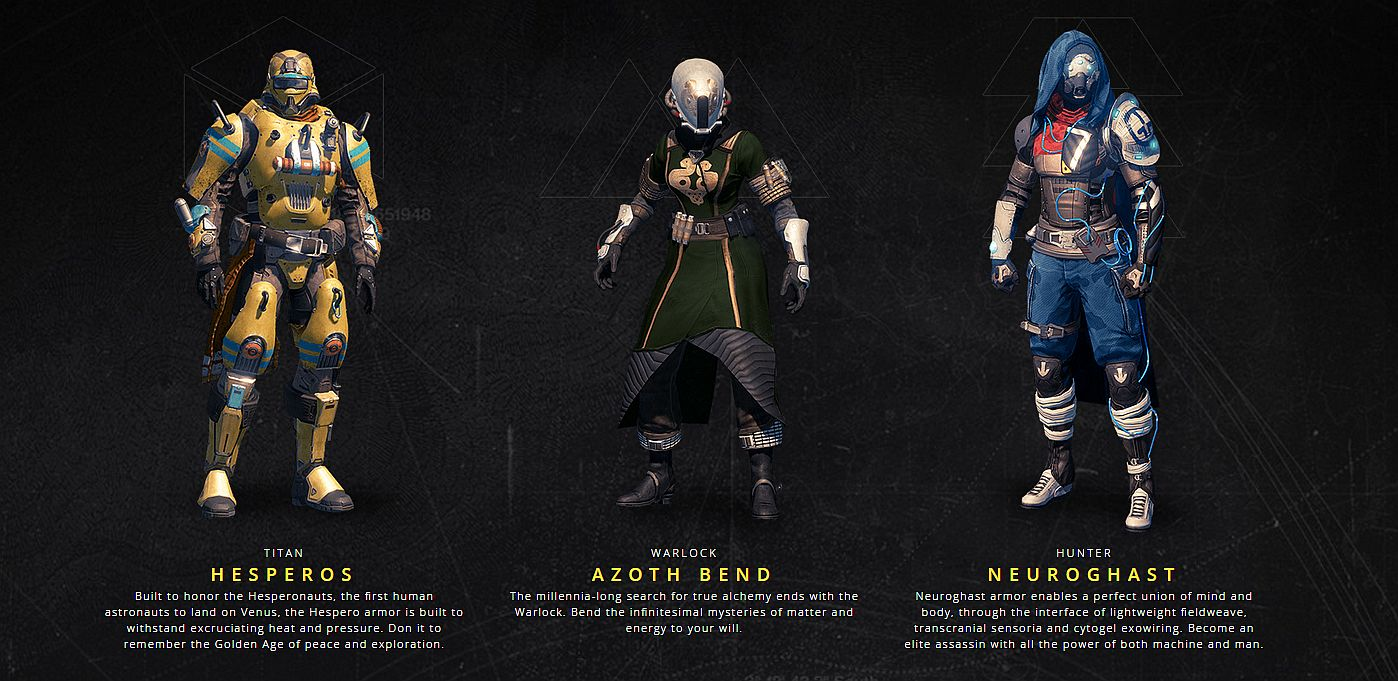 Take a look at Destiny The Taken Kings PS exclusive armor sets 1398x681