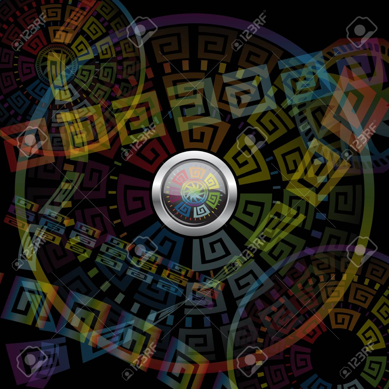 Abstract Button And Motley Background Royalty Cliparts 1300x1300