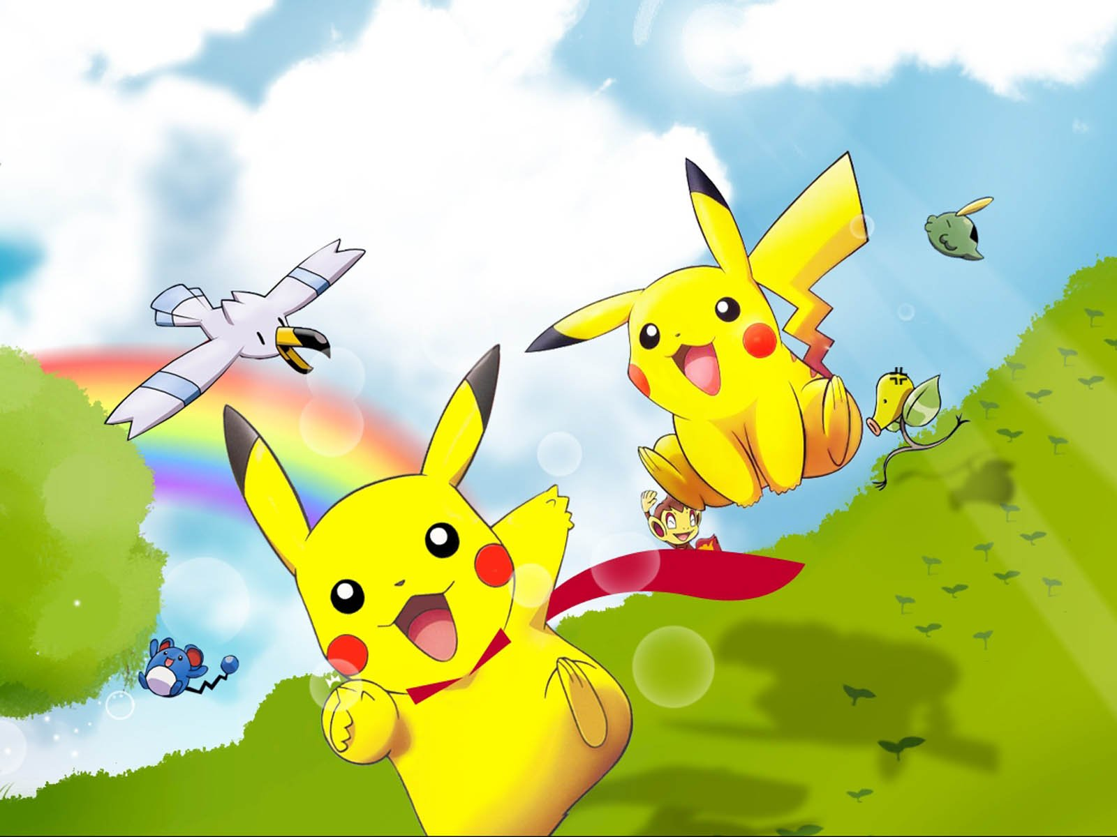 Pikachu Background Wallpapers WIN10 THEMES 1600x1200