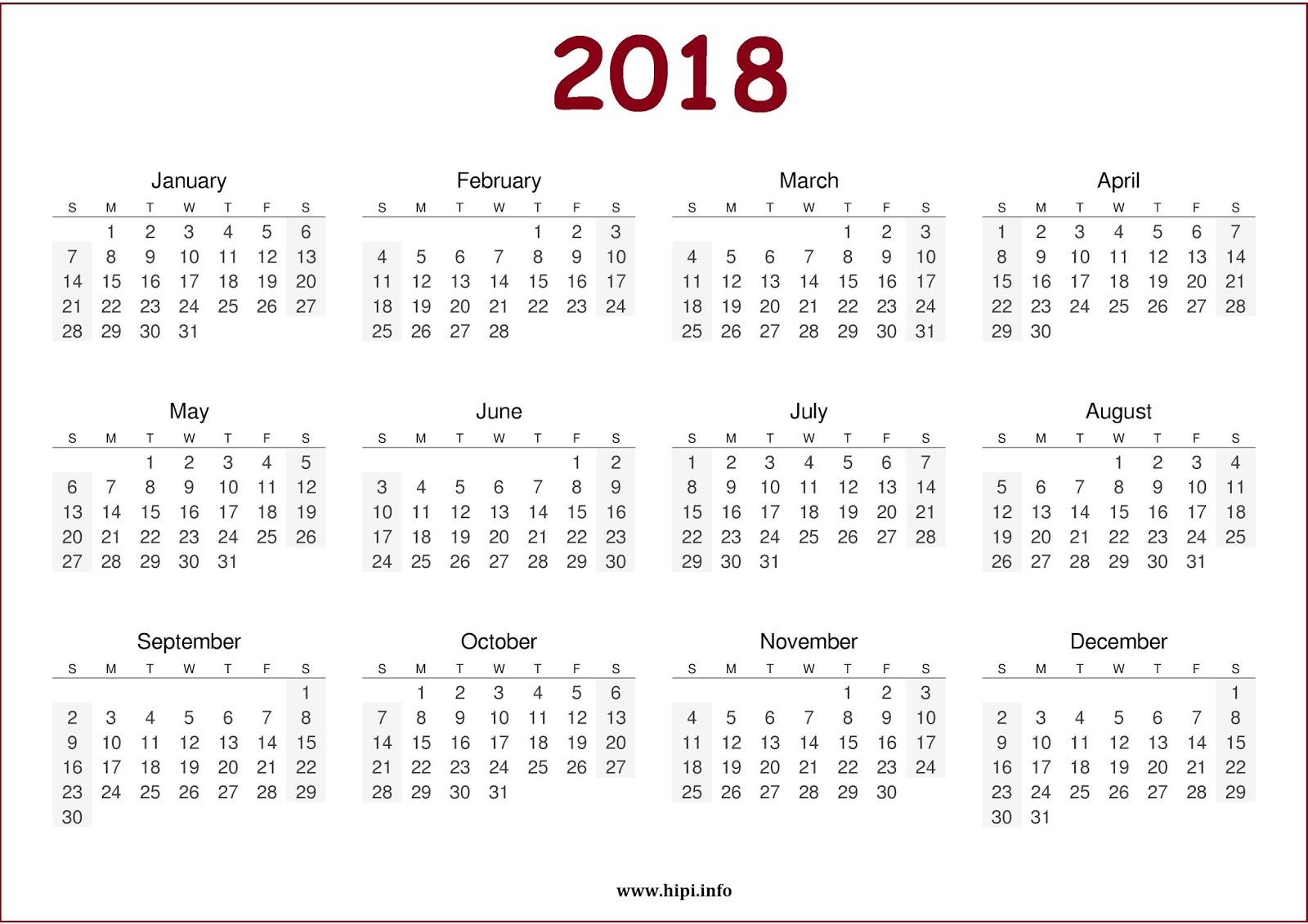 2018 Calendar Download 2018 monthly calendars 1600x1131
