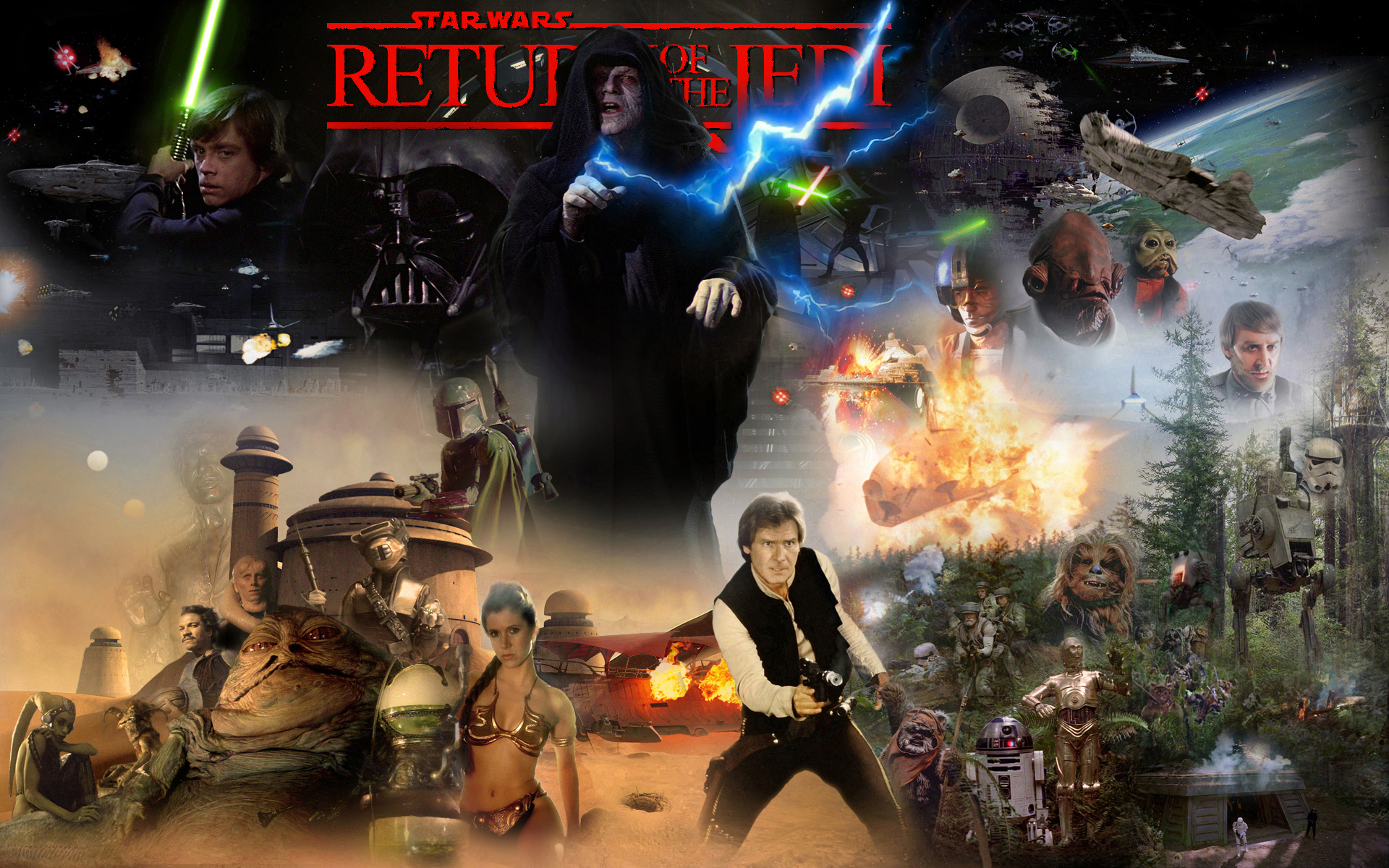 Image result for return of the jedi wallpaper