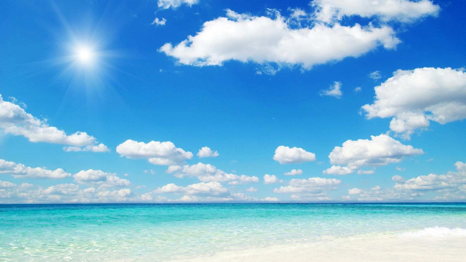 Beautiful Sky Blue In The Beach Wallpaper Back 703 Wallpaper 1920x1080