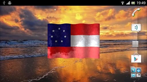 View bigger   Confederate flag 3D wallpaper for Android screenshot 512x288
