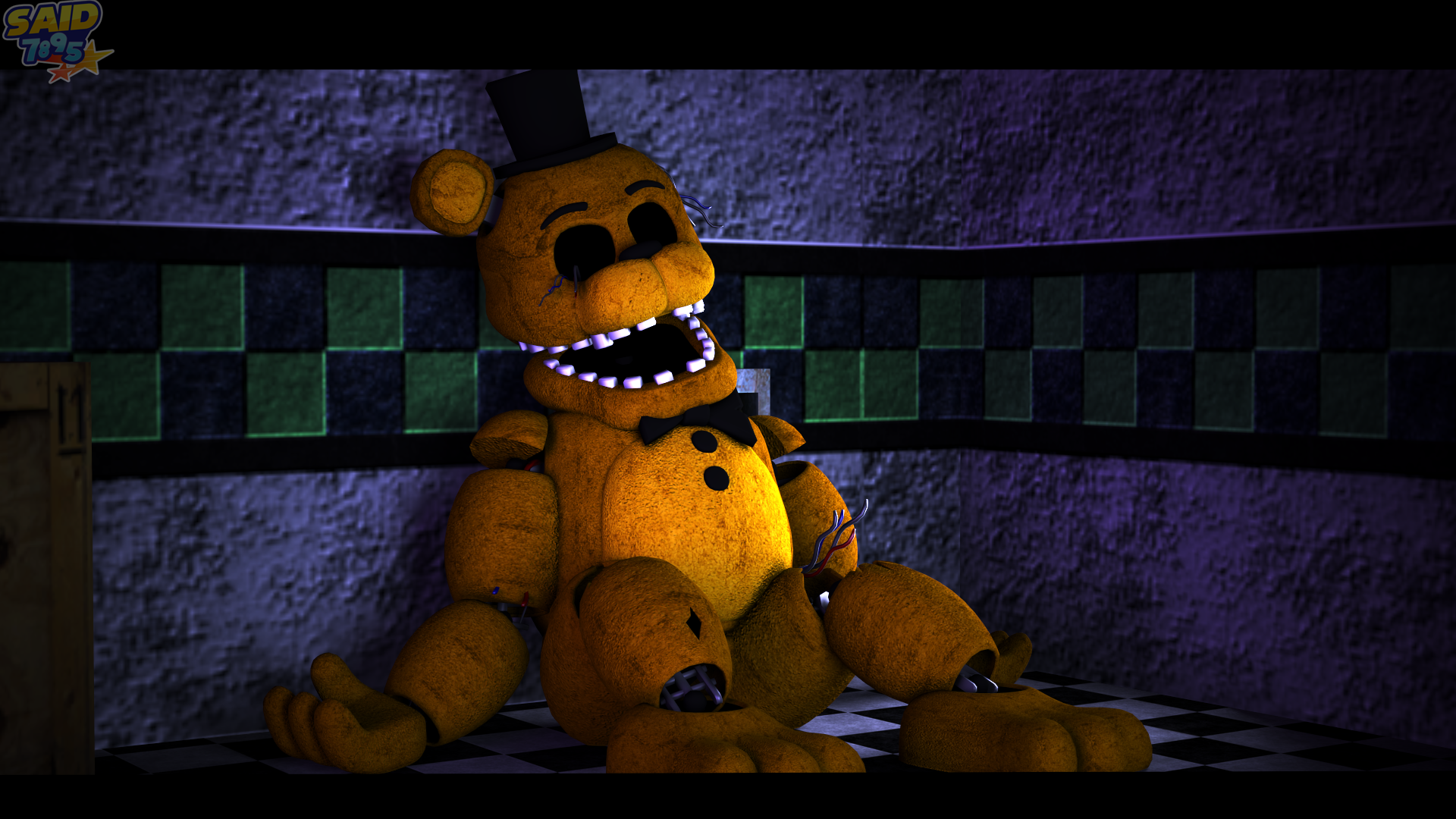 Withered Golden Freddy by said7895 1920x1080