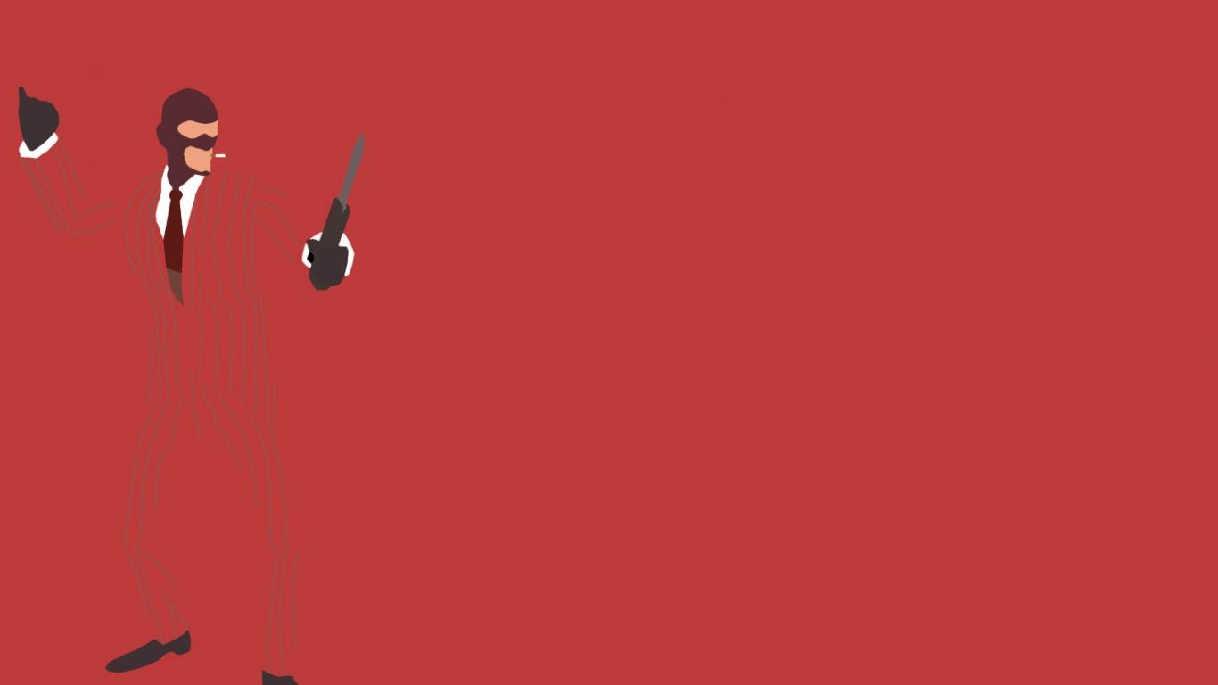 download TF2 Red Spy Minimalist Wallpaper by bohitargep 1366x768