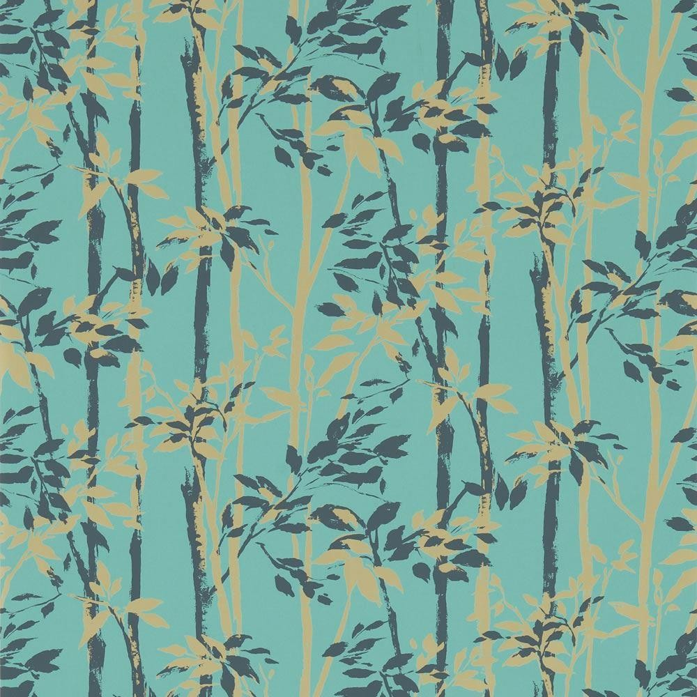 45 Teal And Gold Wallpaper On Wallpapersafari