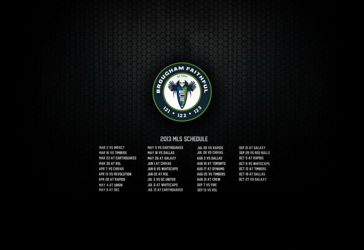 2013 Seattle Sounders schedule wallpaper