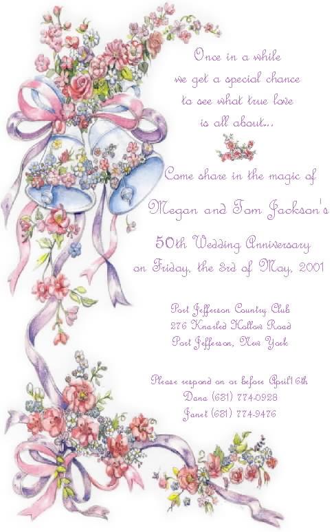 Free Download Anniversary Invitations 50th Wedding Anniversary