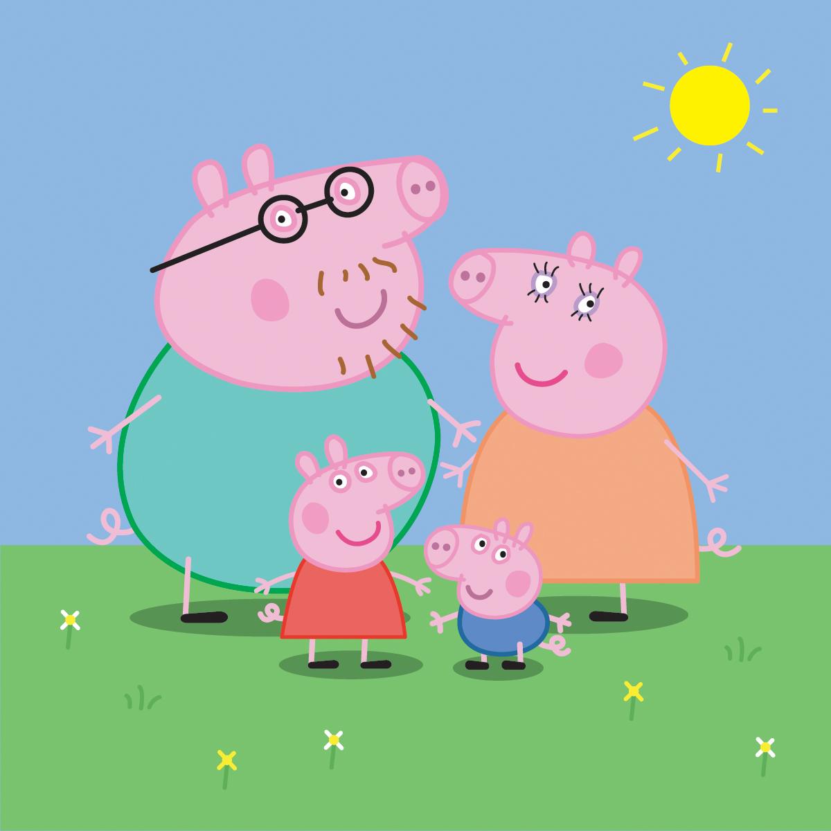 Peppa Pig Family 1200x1200