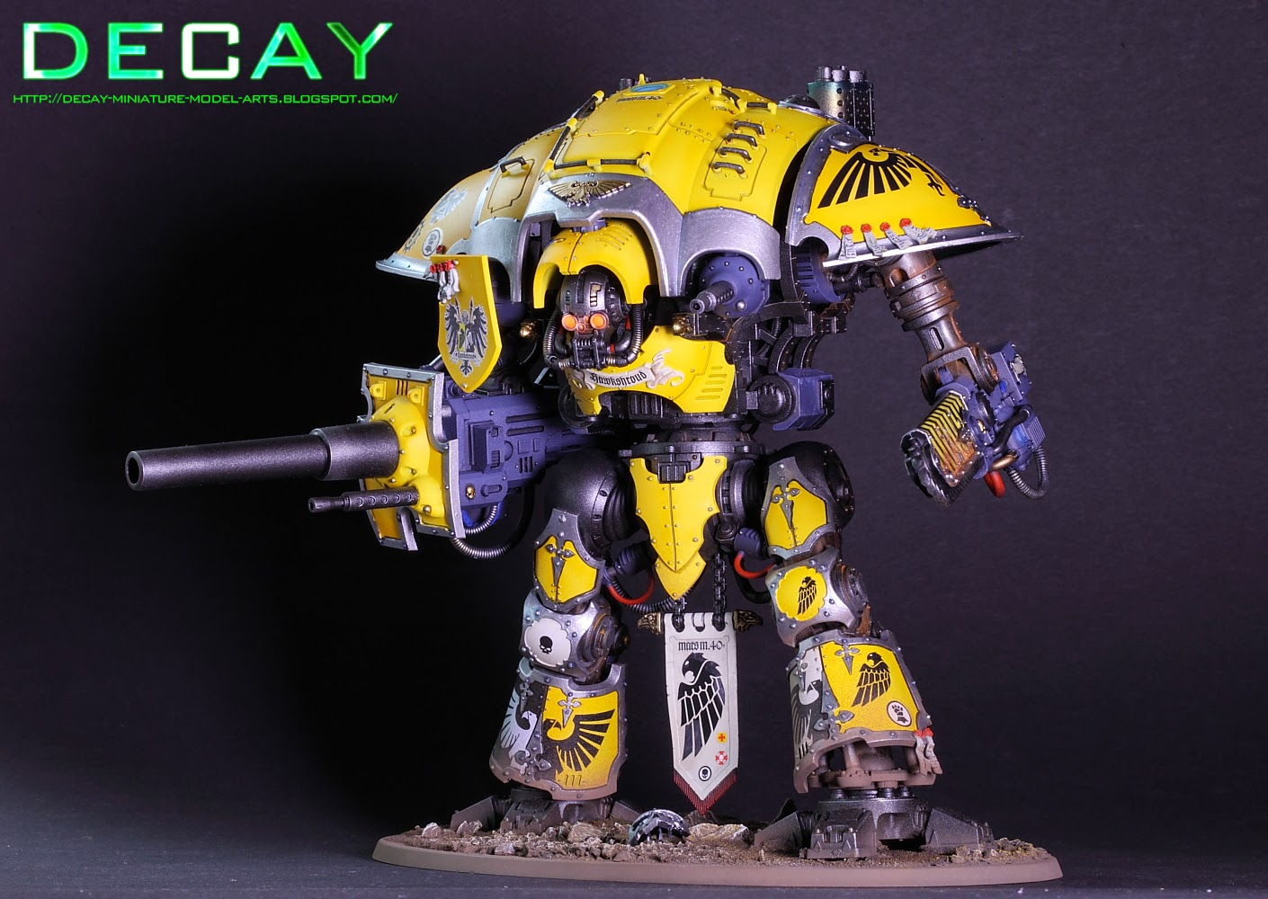 the Knight done and found a House that is using Imperial Fist colors 1410x1000