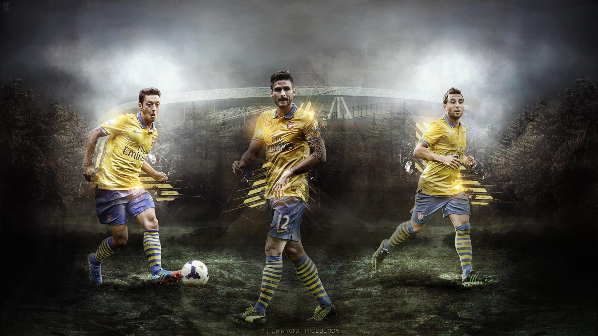 Arsenal Ozil Giroud Carzola Wallpaper HD 2014 1 Football Wallpaper 1920x1080