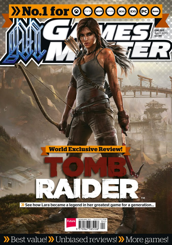 Tomb Raider Reboot images Tomb Raider on the cover of GameMaster 677x960