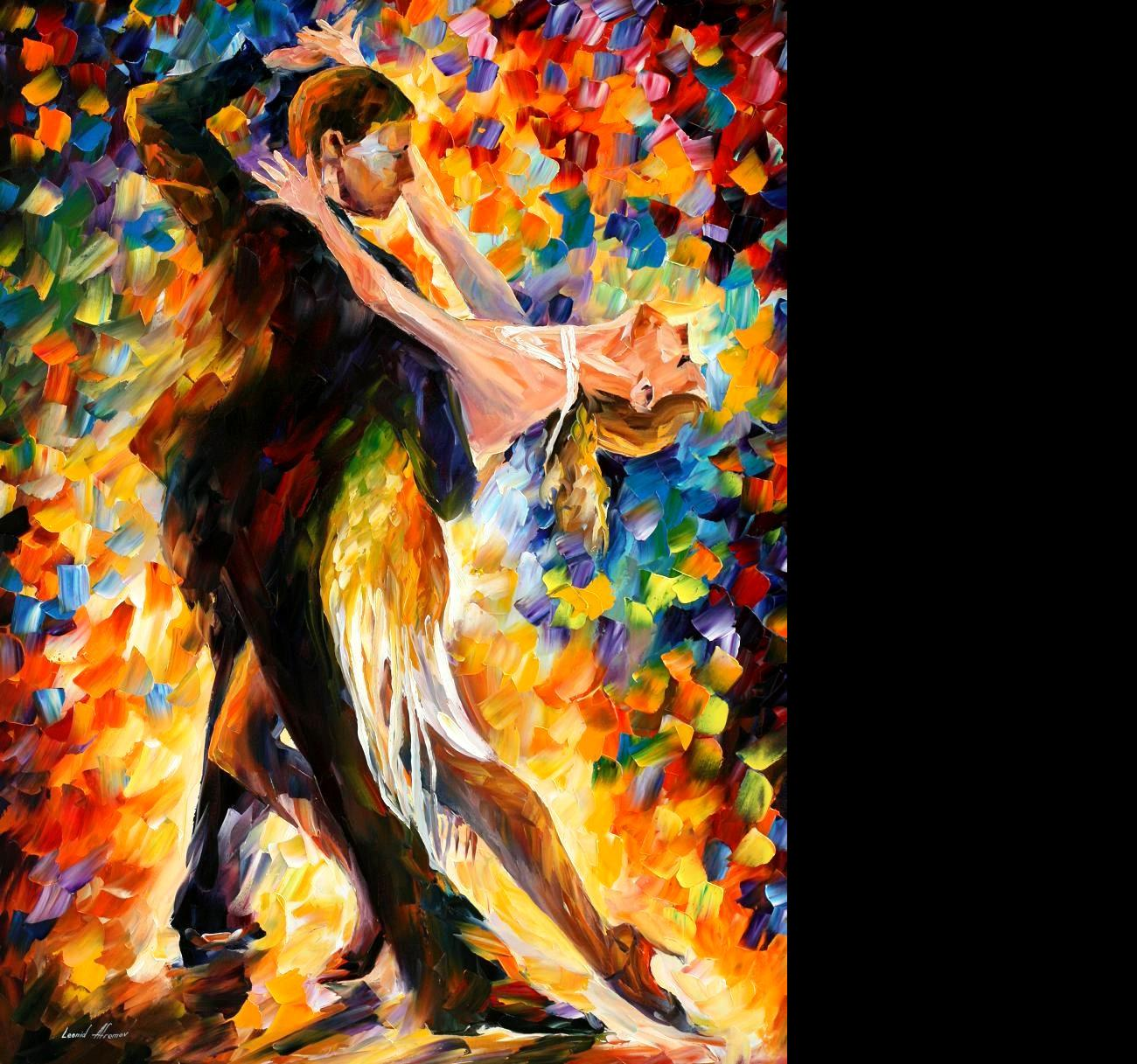 Leonid Afremov   Tango wallpaper   ForWallpapercom 1300x1217
