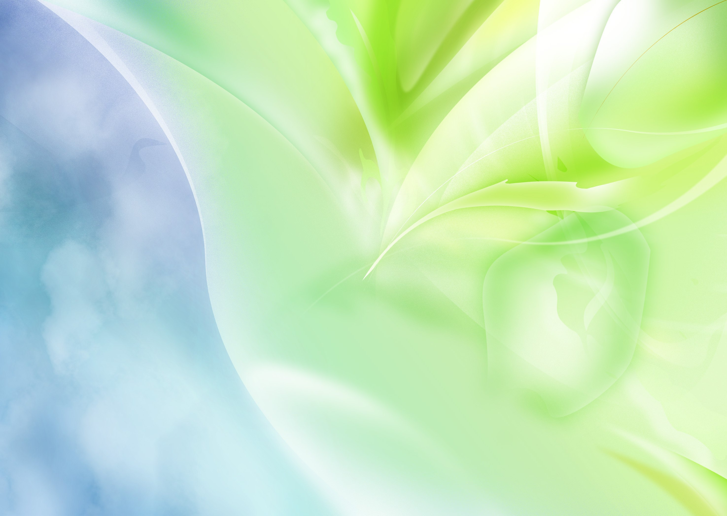 Green abstract blue background wallpapers and images   wallpapers 2950x2094