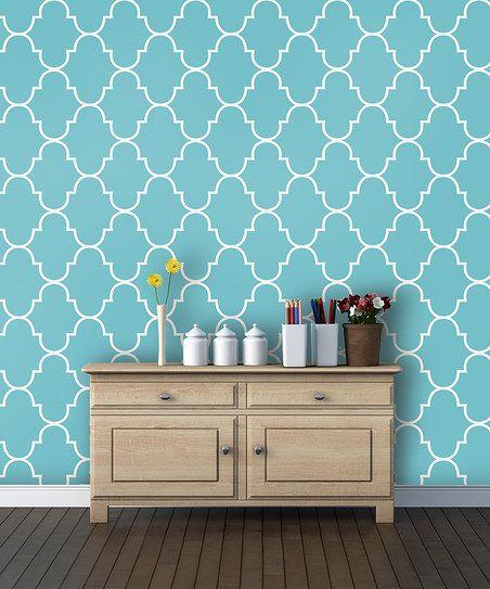 Trellis Background Wallpaper: Blue Lattice Wallpaper