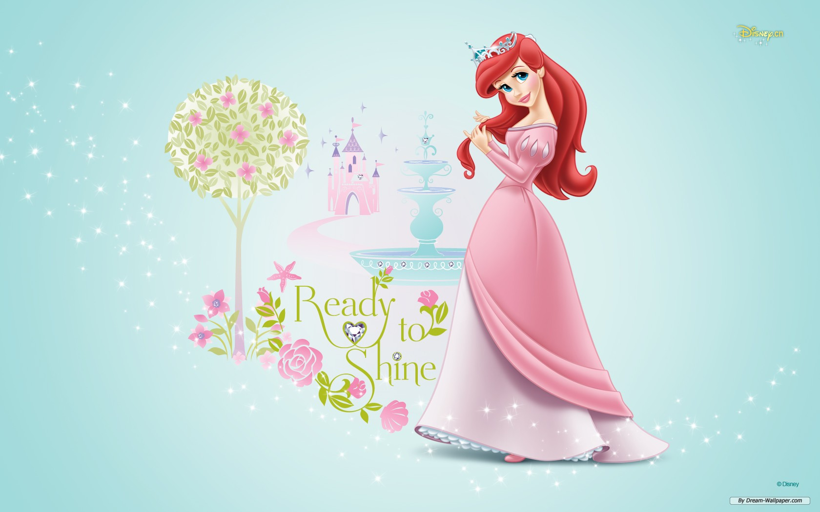 Disney Princess Ariel Pink 1680x1050