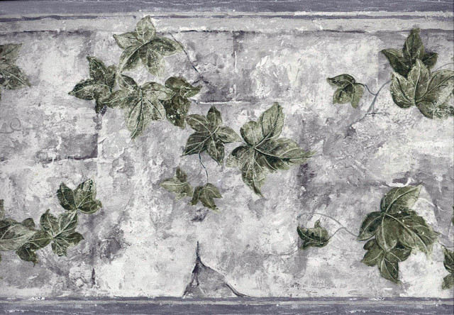 Leaves Wallpaper Border traditional accent trim and border tile 640x444
