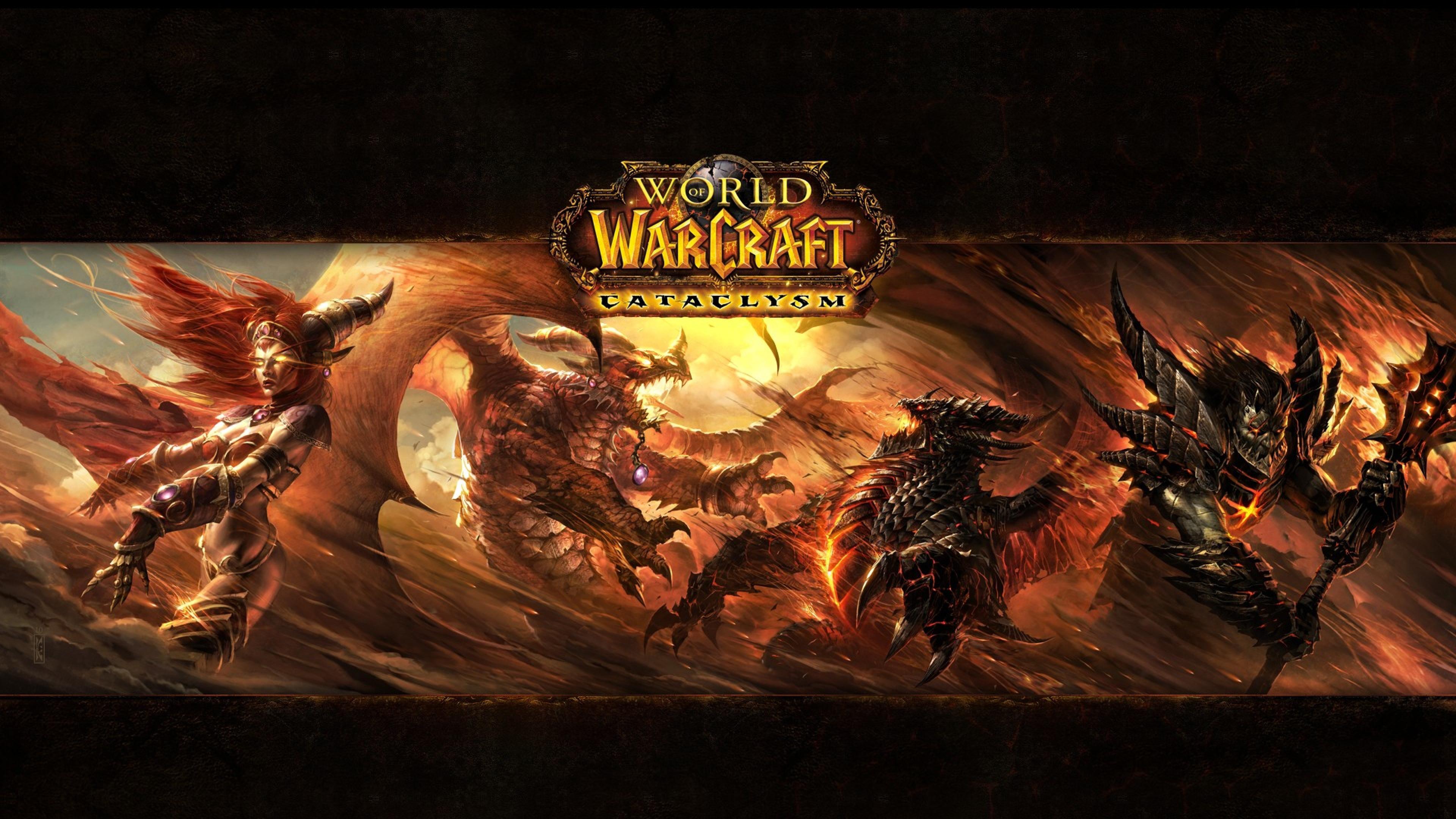 3840x2160 Wallpaper world of warcraft cataclysm monsters fire 3840x2160
